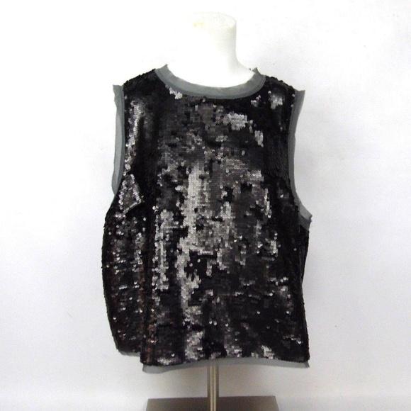 dea2734b1c719d Who What Wear Tops | New Gray Sequin Sleeveless Blouse | Poshmark